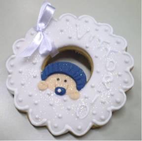 Guirlanda bebê azul marinho