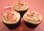 Cupcakes de canela com cobertura de cream cheese...