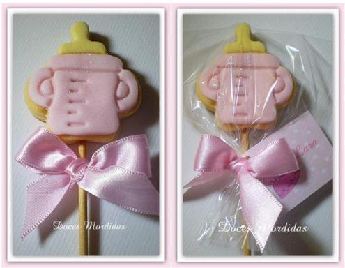 Mamadeira palito rosa